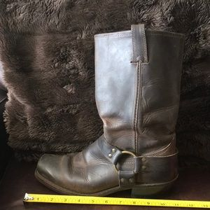 FRYE Harness Leather mid-calf boots- size 9 1/2